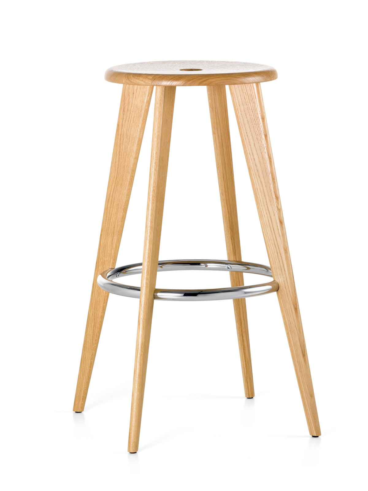 Tabouret Haut Bar Stool 1 Natural Solid Oak
