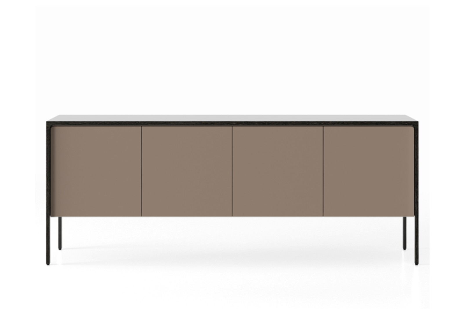 TAC215 Tactile Sideboard Dark Grey Stained Oak, Bronze Texturised Lacquered (cs6010-y10r)