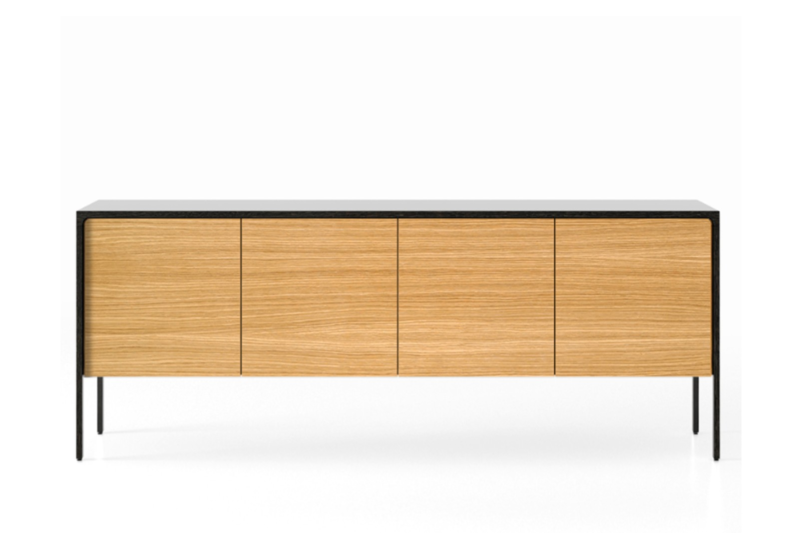 TAC215 Tactile Sideboard Super-Matt Oak, White Open Pore Lacquered on Oak