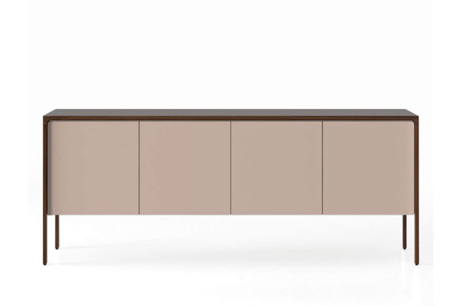 TAC215 Tactile Sideboard Dark Stained Walnut, Sand Texturised Lacquered