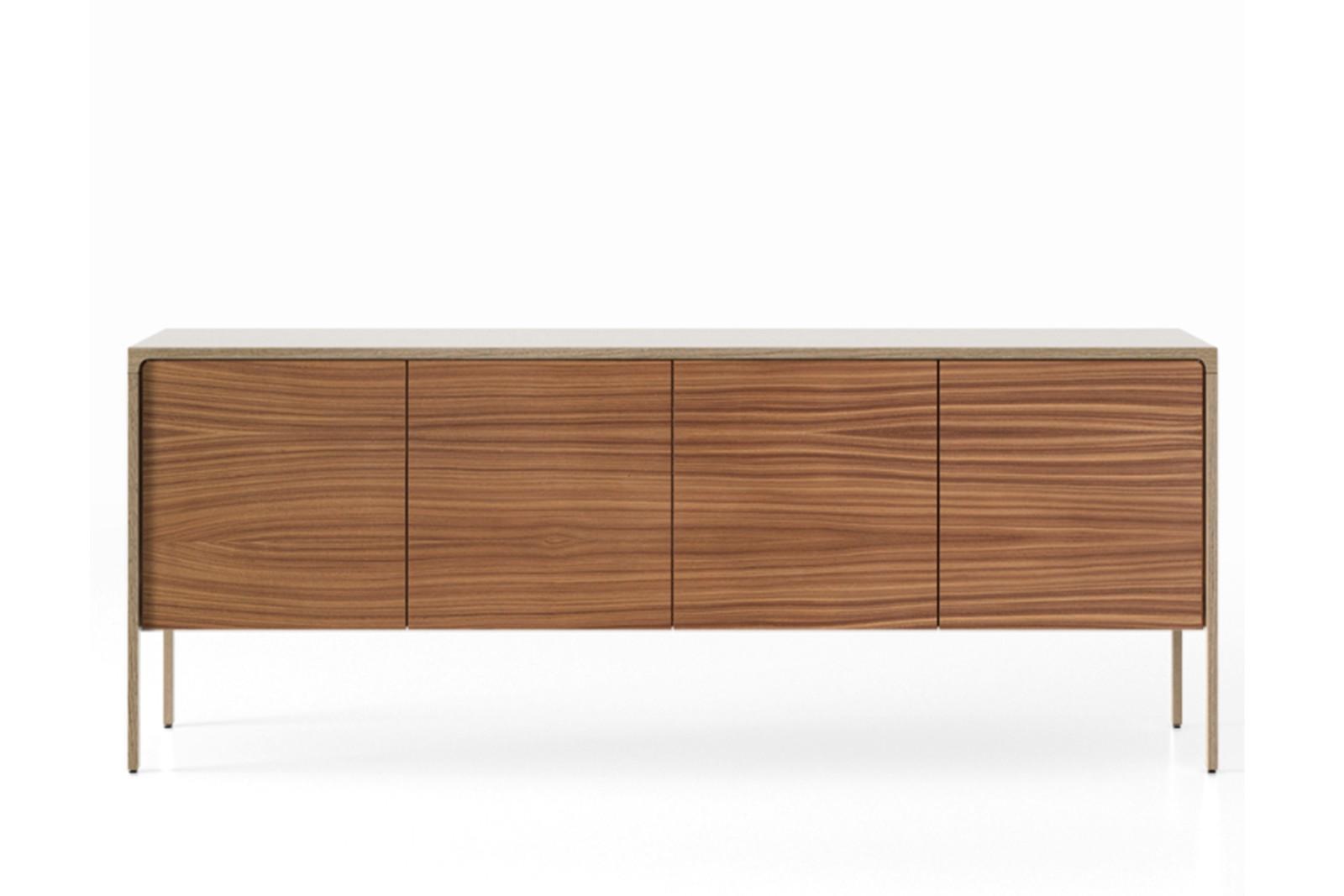 TAC215 Tactile Sideboard Siena Grey Stained Oak, Super-Matt Walnut