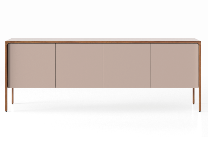 TAC215 Tactile Sideboard Super-Matt Walnut, Sand Texturised Lacquered