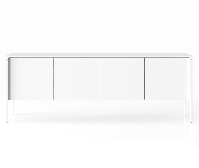 TAC215 Tactile Sideboard White Open Pore Lacquered on Oak, White Texturised Lacquered