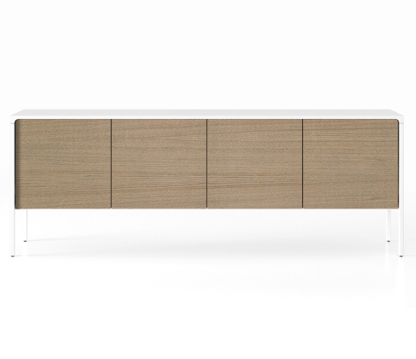 TAC215 Tactile Sideboard White Open Pore Lacquered on Oak, Siena Grey Stained Oak