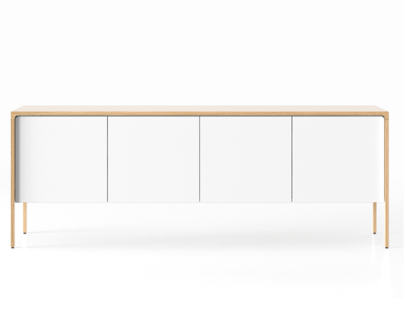 TAC215 Tactile Sideboard Whitened Oak, White Open Pore Lacquered on Oak