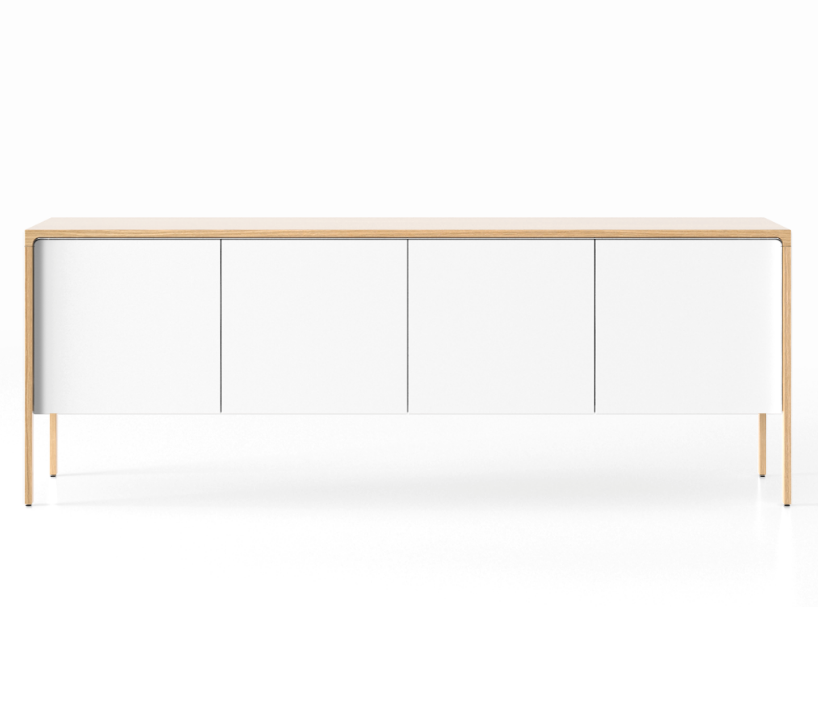 TAC215 Tactile Sideboard Whitened Oak, White Texturised Lacquered