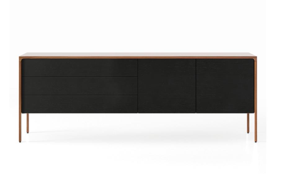 TAC216 Tactile Sideboard Super-Matt Walnut, Ebony Stained Oak
