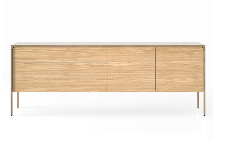 TAC216 Tactile Sideboard Whitened Oak, Super-Matt Oak