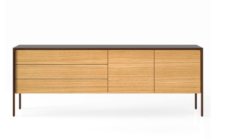 TAC216 Tactile Sideboard Dark Stained Walnut, Super-Matt Oak