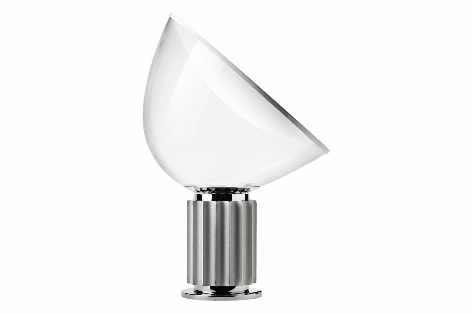 Taccia Table Lamp Anodized silver, Glass