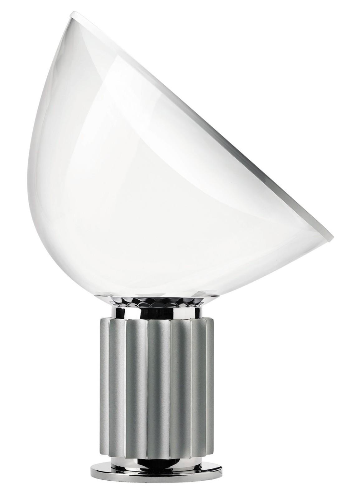 Taccia Small Table Lamp Anodized silver