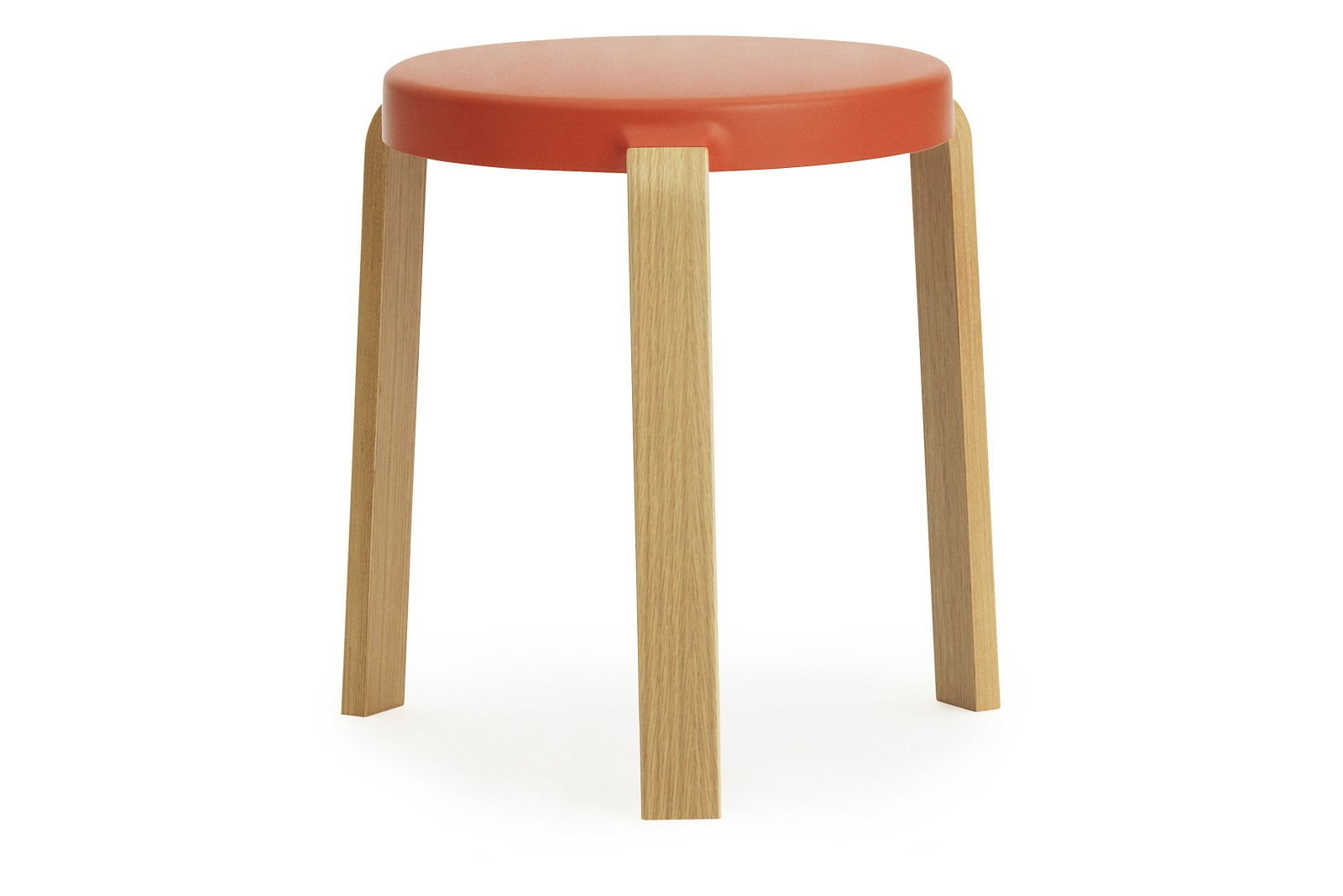 Tap Stool Oak, Spicy Orange