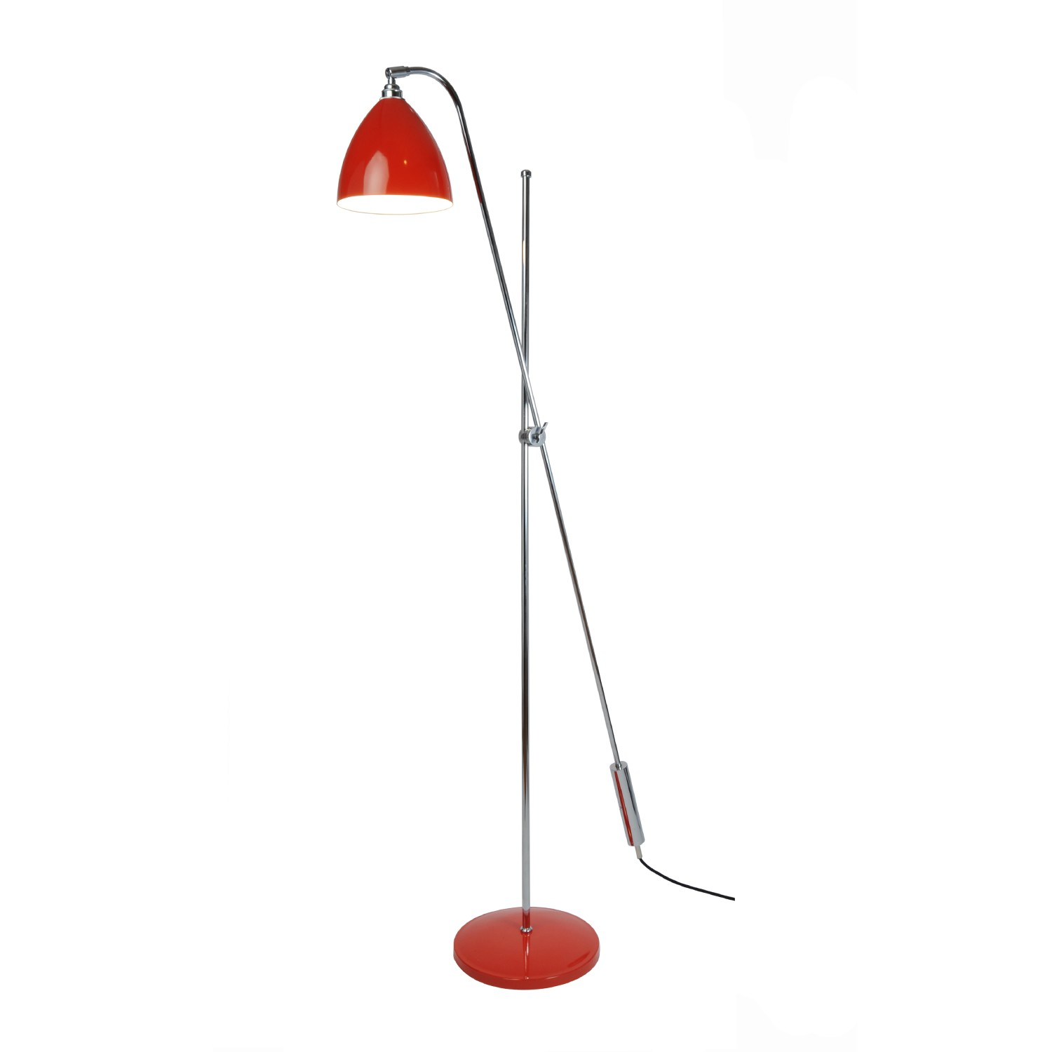 Task Overreach Floor Lamp Red
