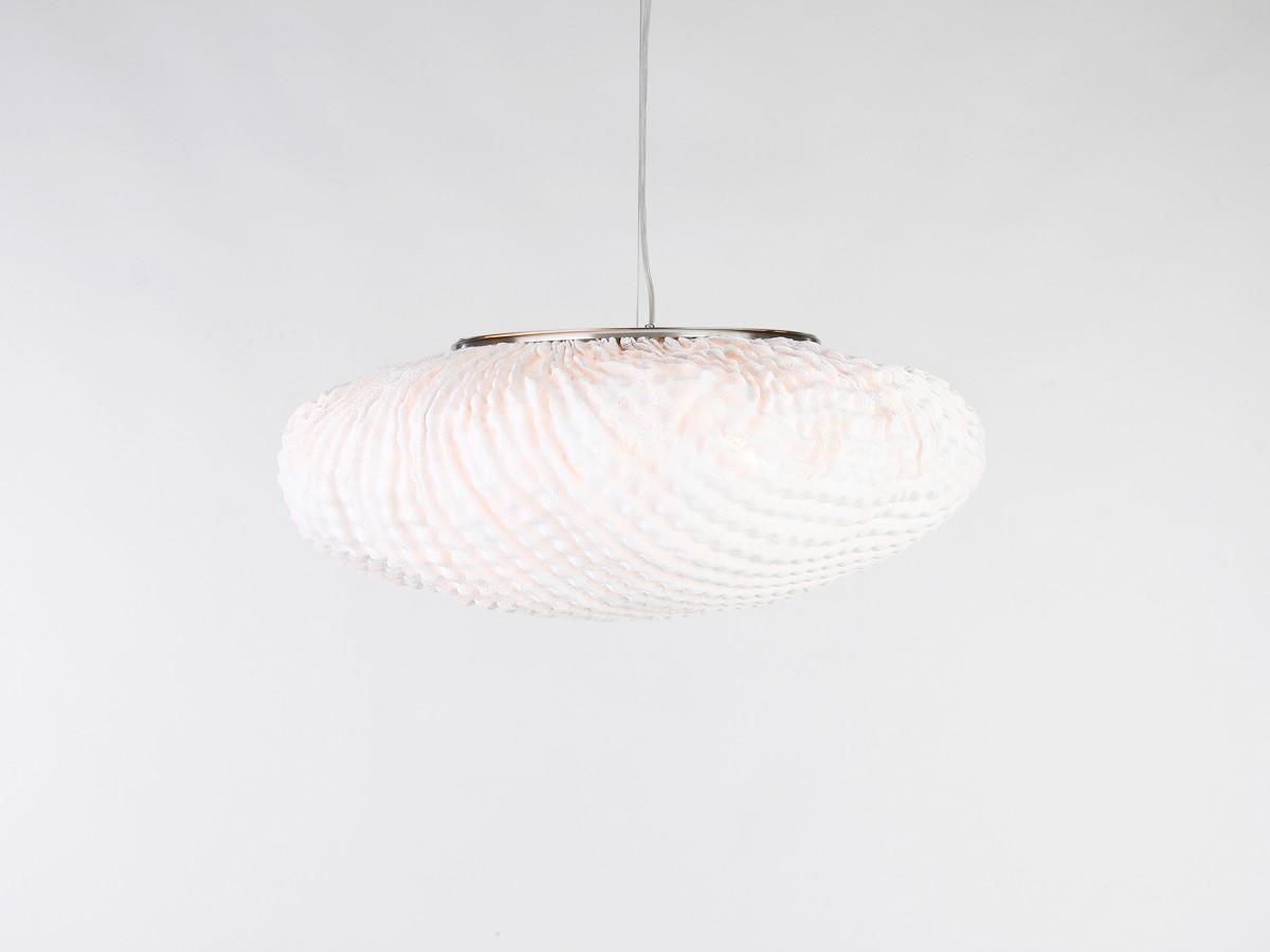 Tati Large Pendant Lamp Black Cable, White, 55