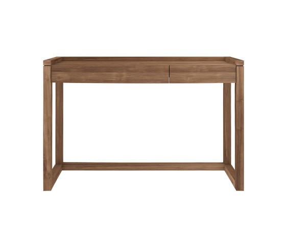 Teak Frame Office Console Table 120 x 43 x 82 cm