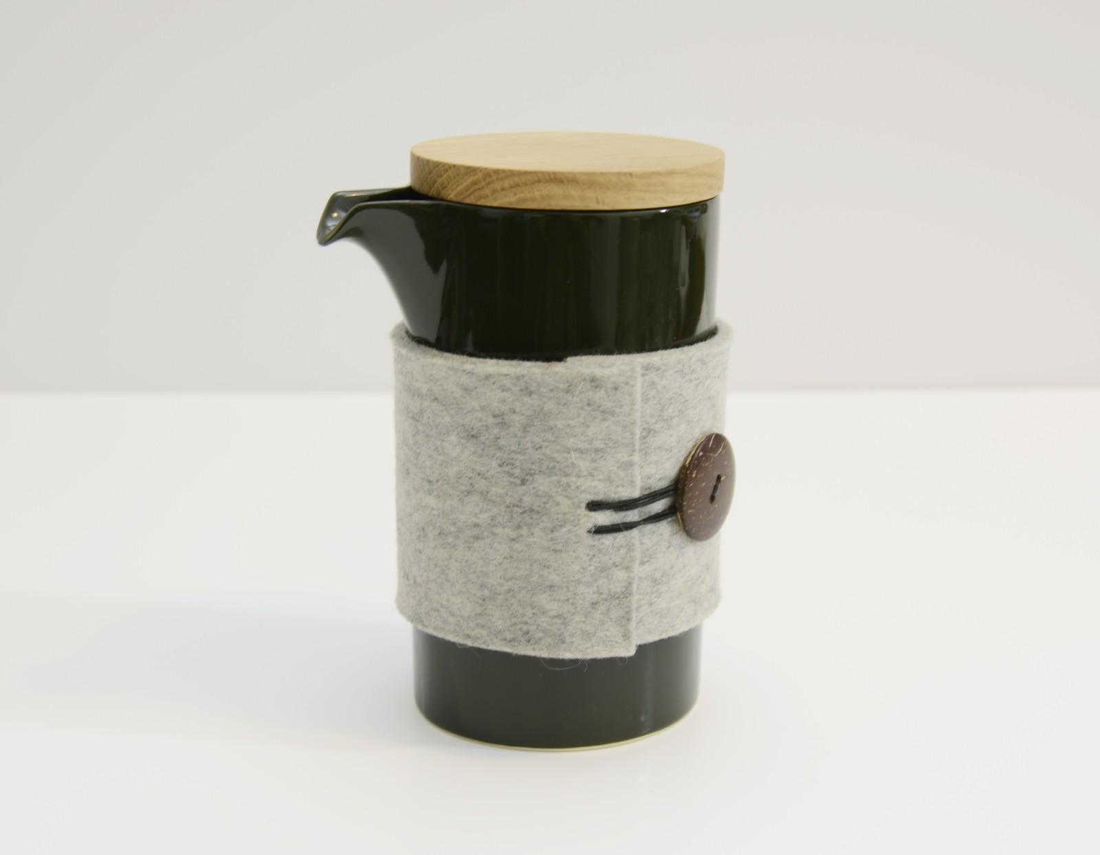 Teapod Mug Glossy Dark Green