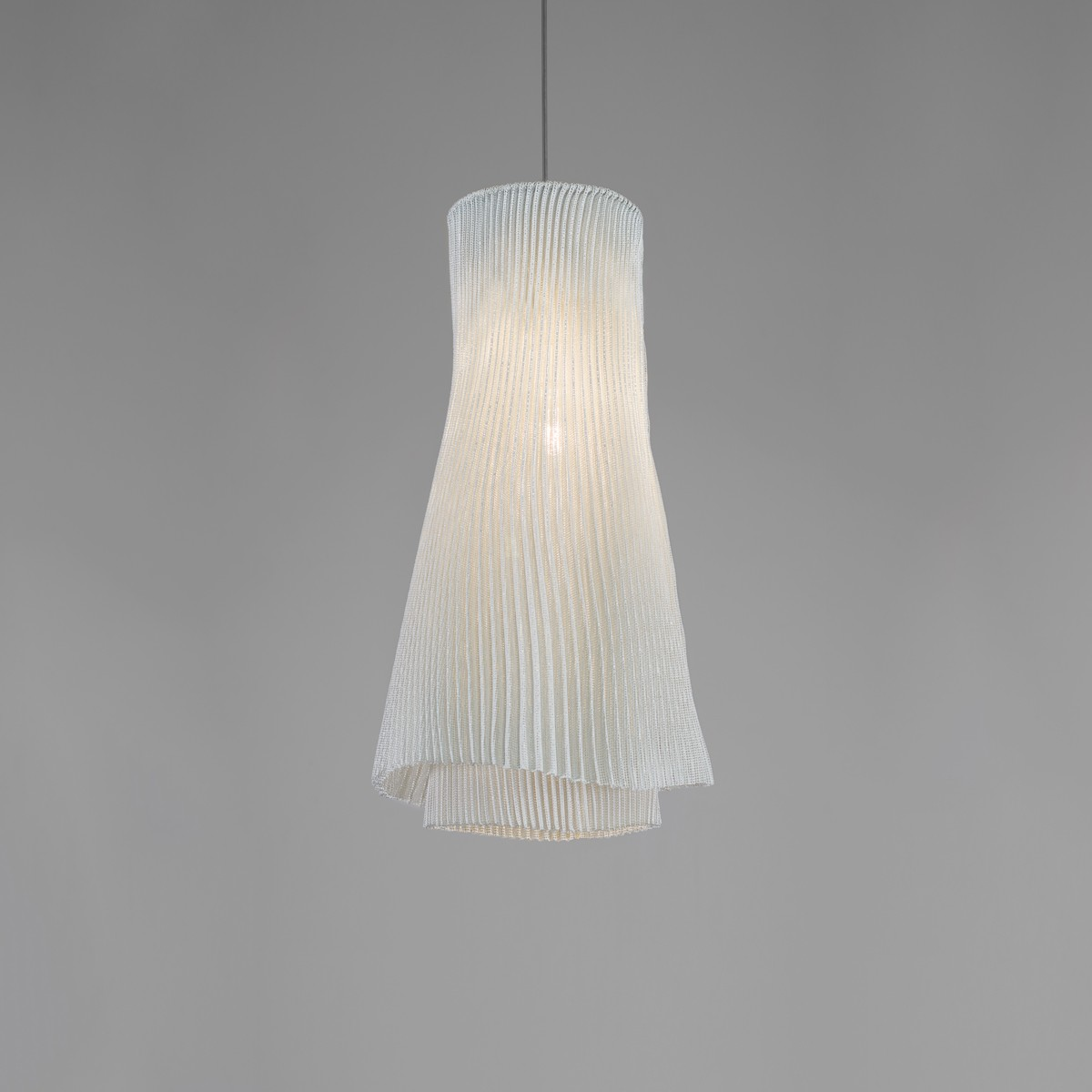 Tempo Andante Pendant lamp Ochre, Transparent Cable, No