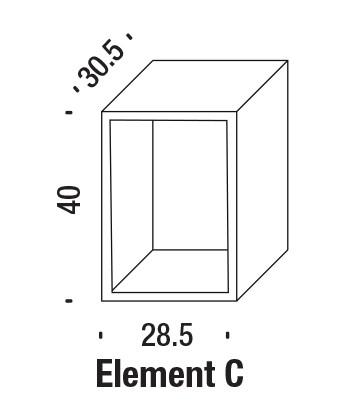 Terreria Bookshelf Element C