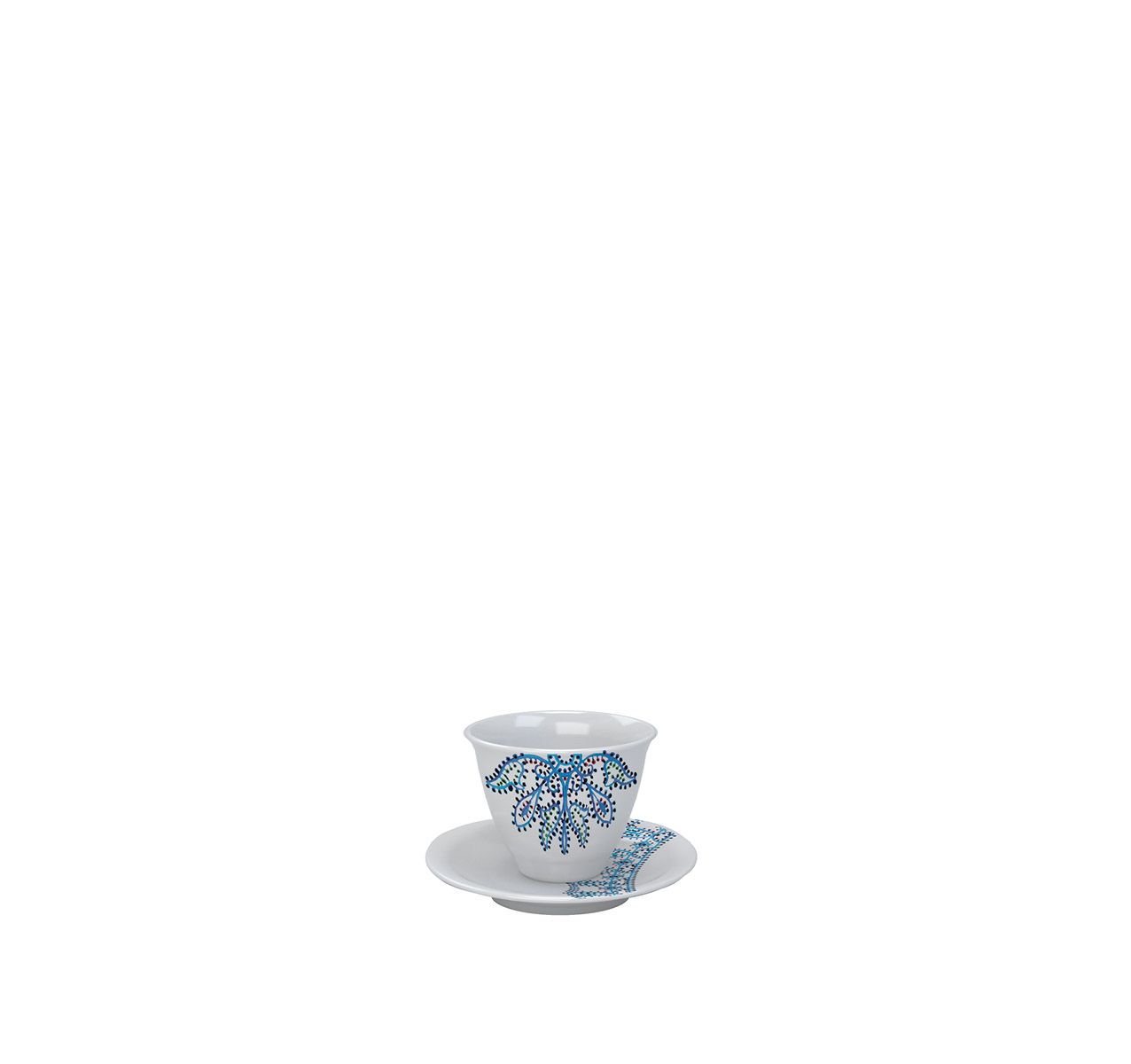 The White Snow Luminarie - Cup With Saucer Set of 6 Porcelain