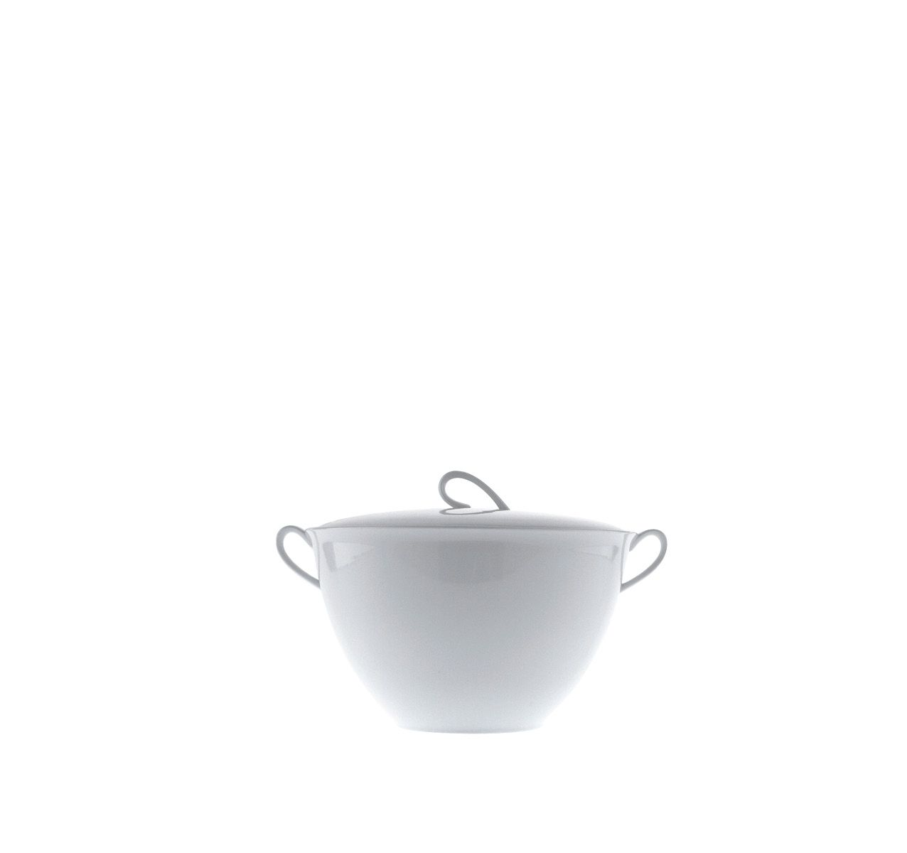 The White Snow - Soup Tureen with Lid White