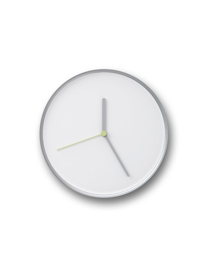 THIN Wall Clock White & Silver