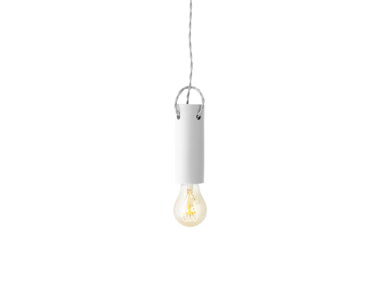 Tied Pendant Light White