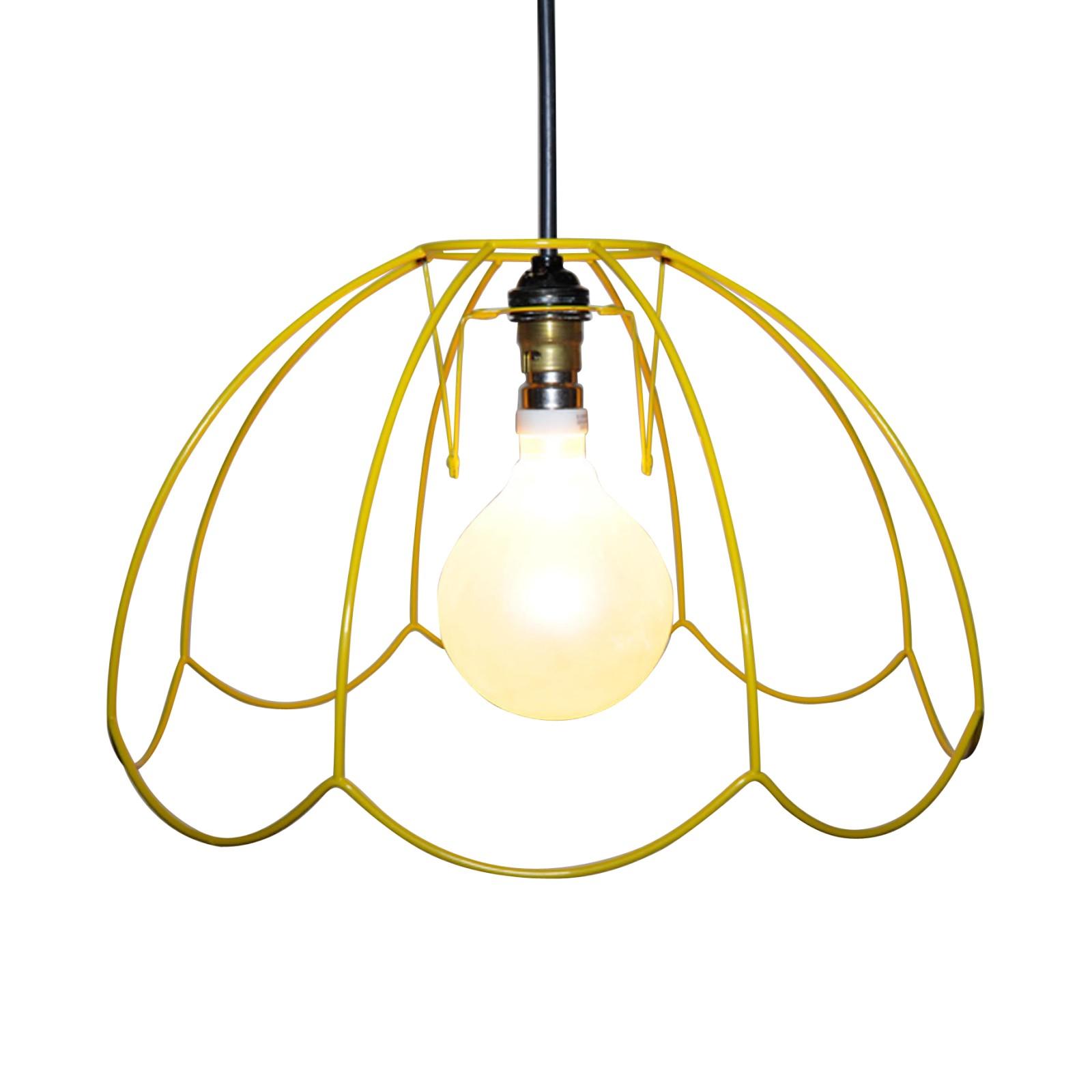 "Tiffany Skeleton Lampshade 14"", Yellow"