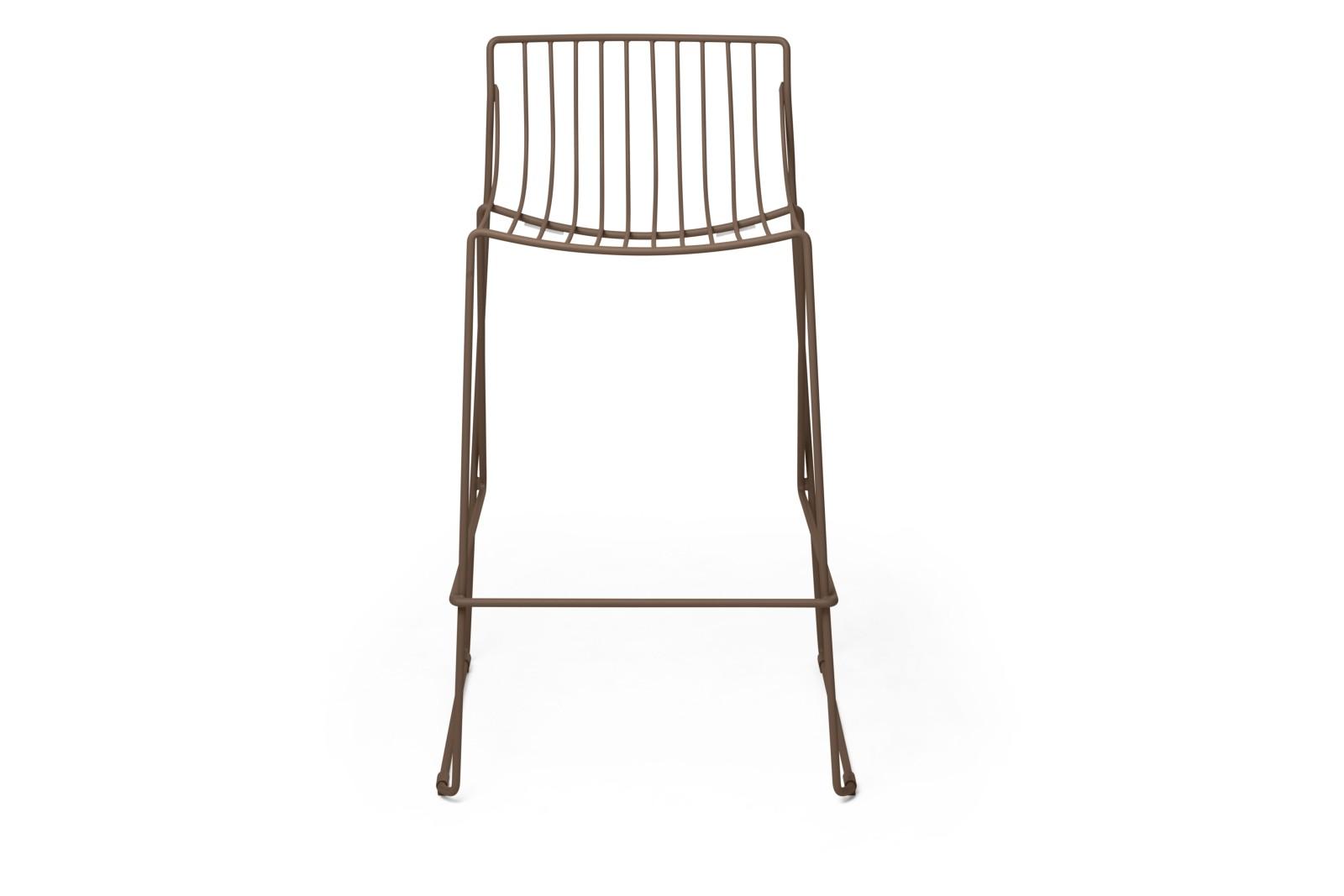 Tio Bar Stool Pale Brown - RAL 8025, 65cm