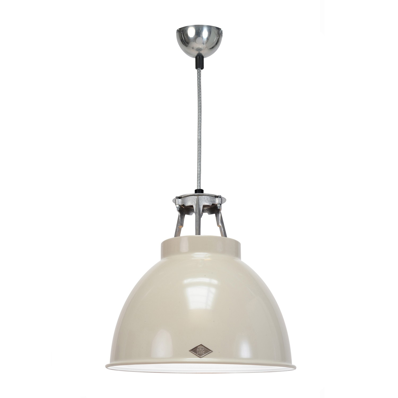 Titan Size 1 Pendant Light Putty Grey with White Interior