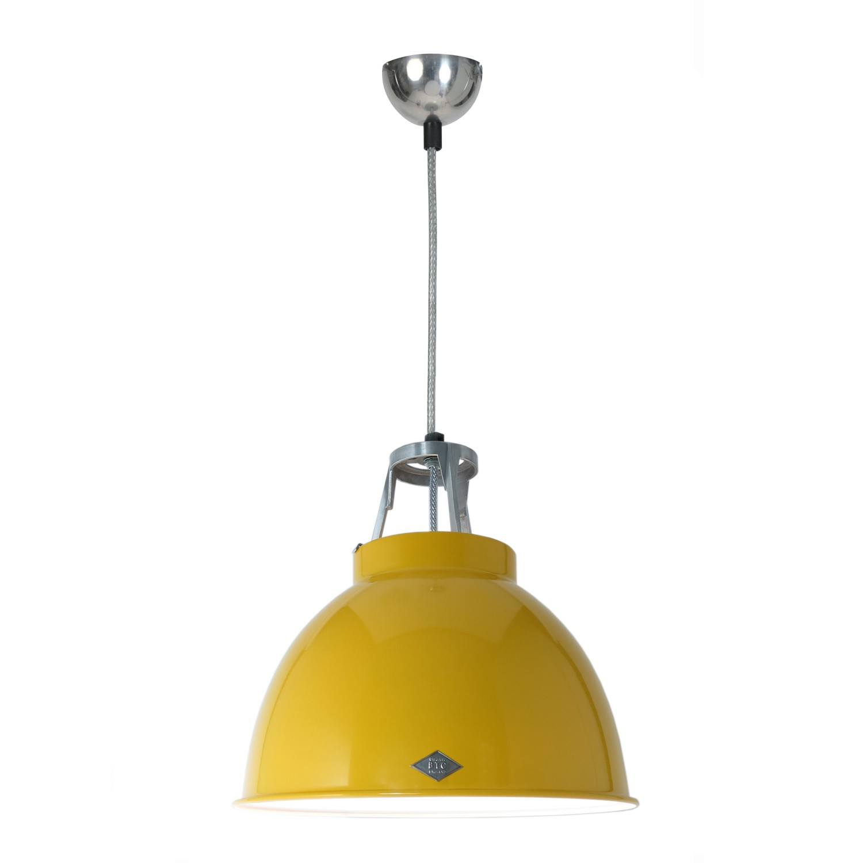 Titan Size 1 Pendant Light Yellow with White Interior