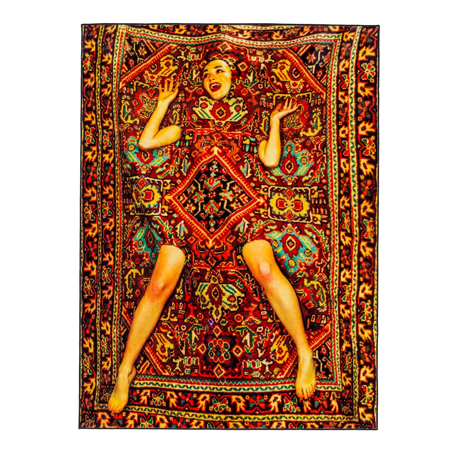 Toiletpaper Lady on Carpet Rectangular Rug
