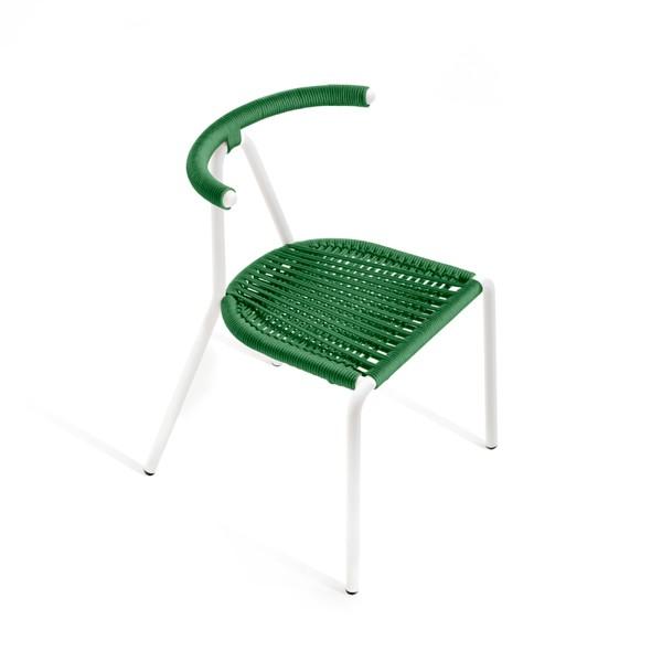 Toro Cord Chair White, Emerald
