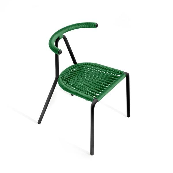 Toro Cord Chair Black, Emerald