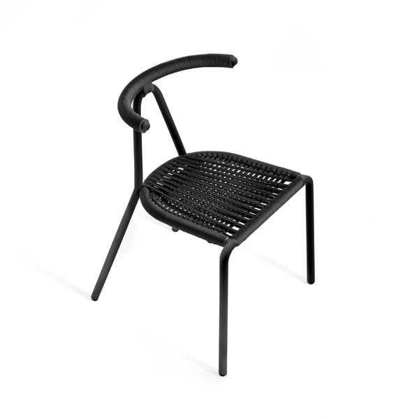 Toro Cord Chair Black, Black