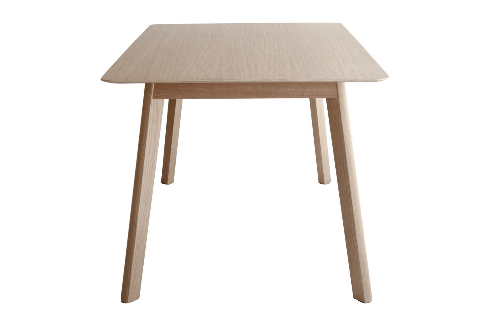 Transalpina Dining Table, Non-extendable Super-Matt Oak, 140cm