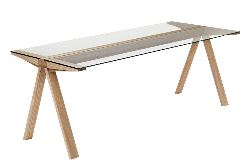 Traverso Cantilever Dining Table Glass Top