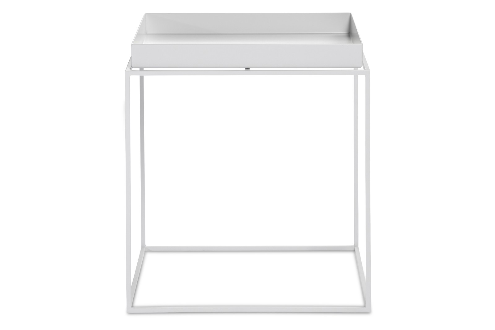 Tray Square Side Table White, Medium