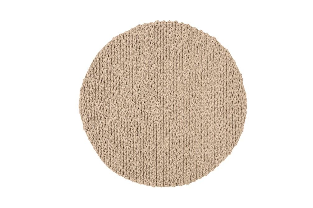 Trenzas Circular Rug Ivory, d225 cm