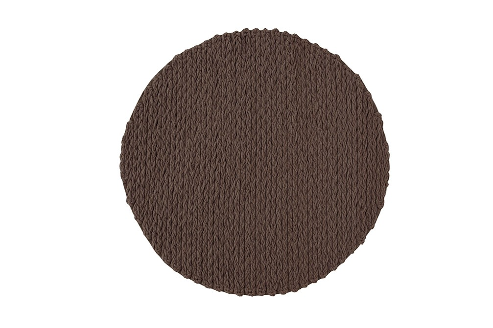 Trenzas Circular Rug Brown, d225 cm