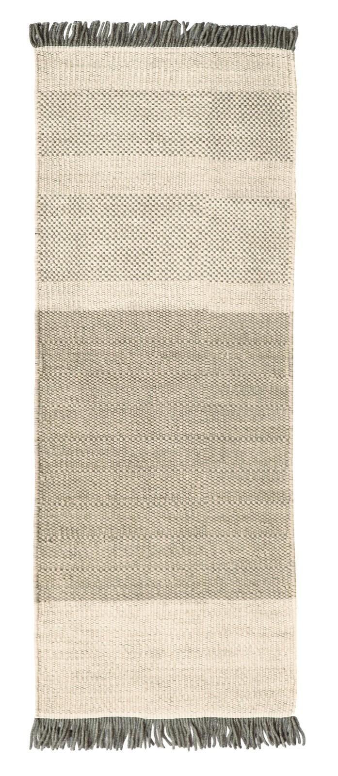 Tres Stripes Rug Pearl, 80 x 240 cm