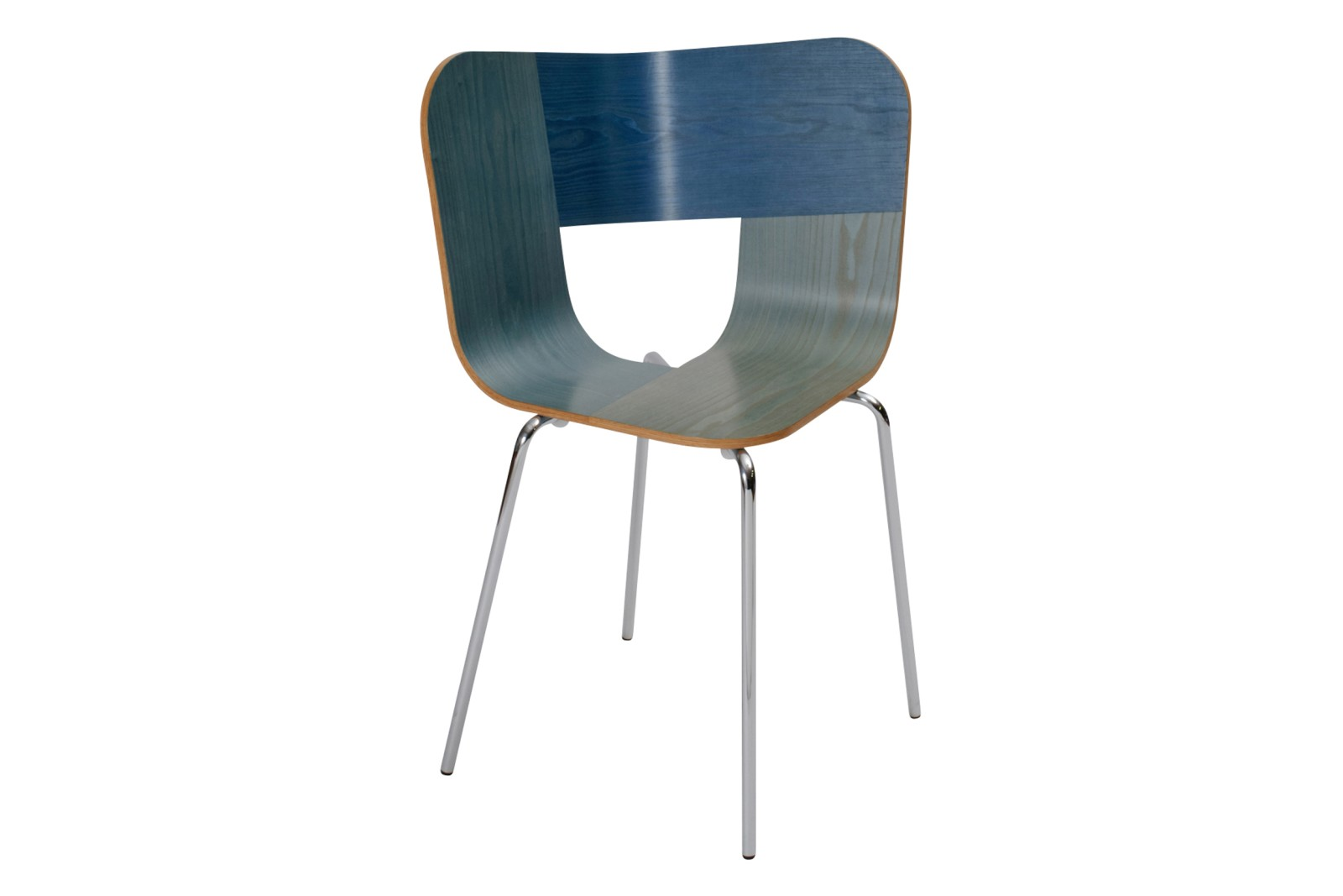 Tria Metal Legged Dining Chair Denim