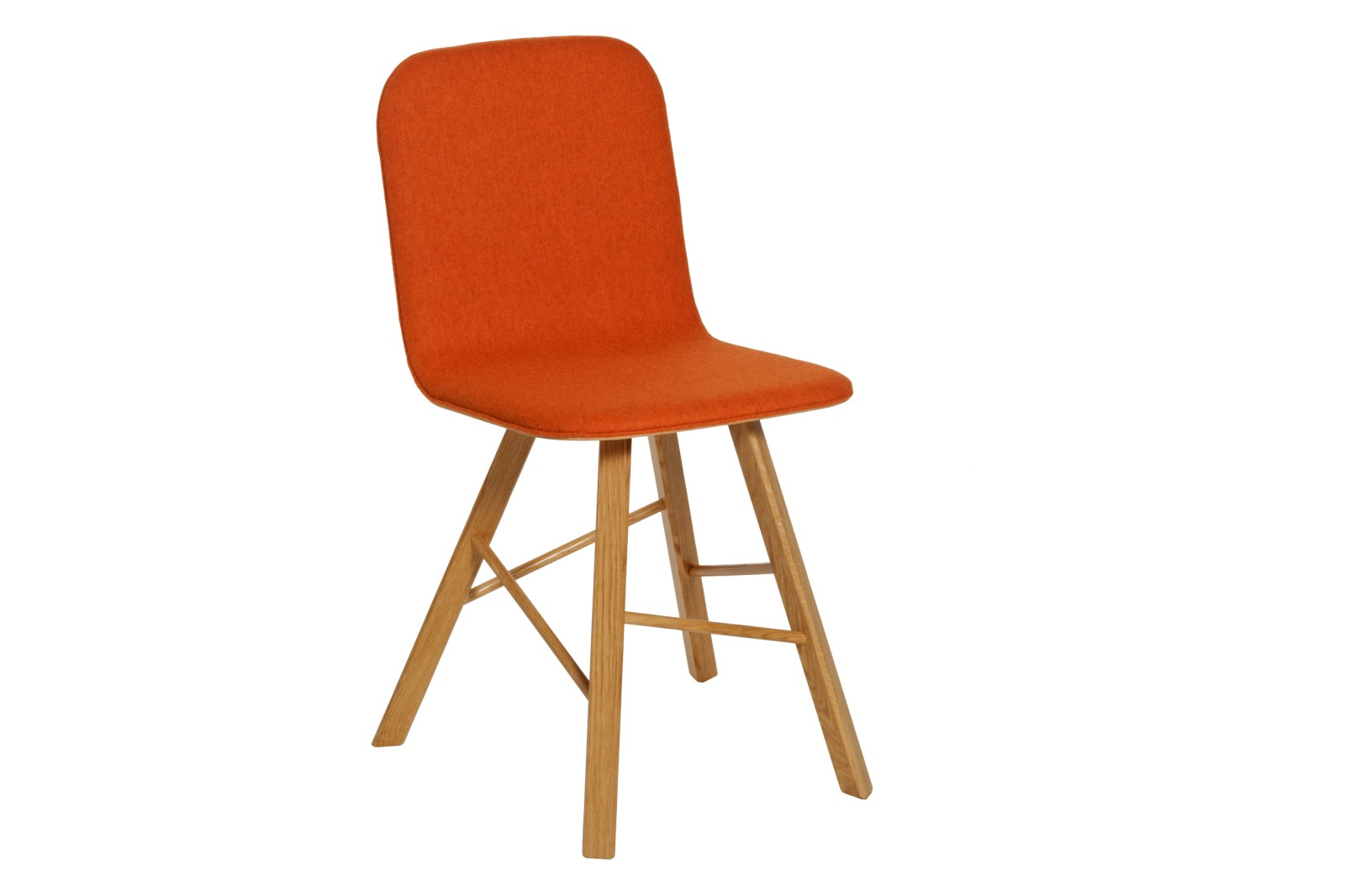 Tria Simple Chair Orange Fabric