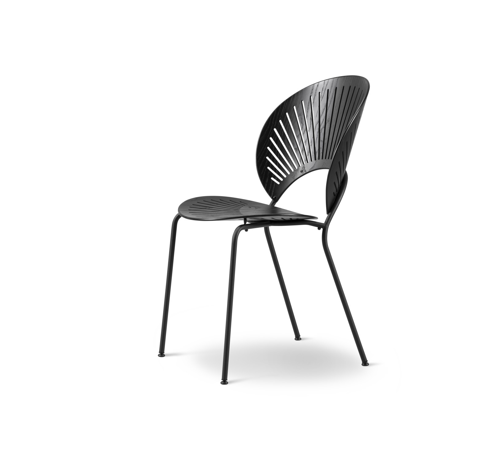 Trinidad Chair Stackable Lacquered Beech, Chrome