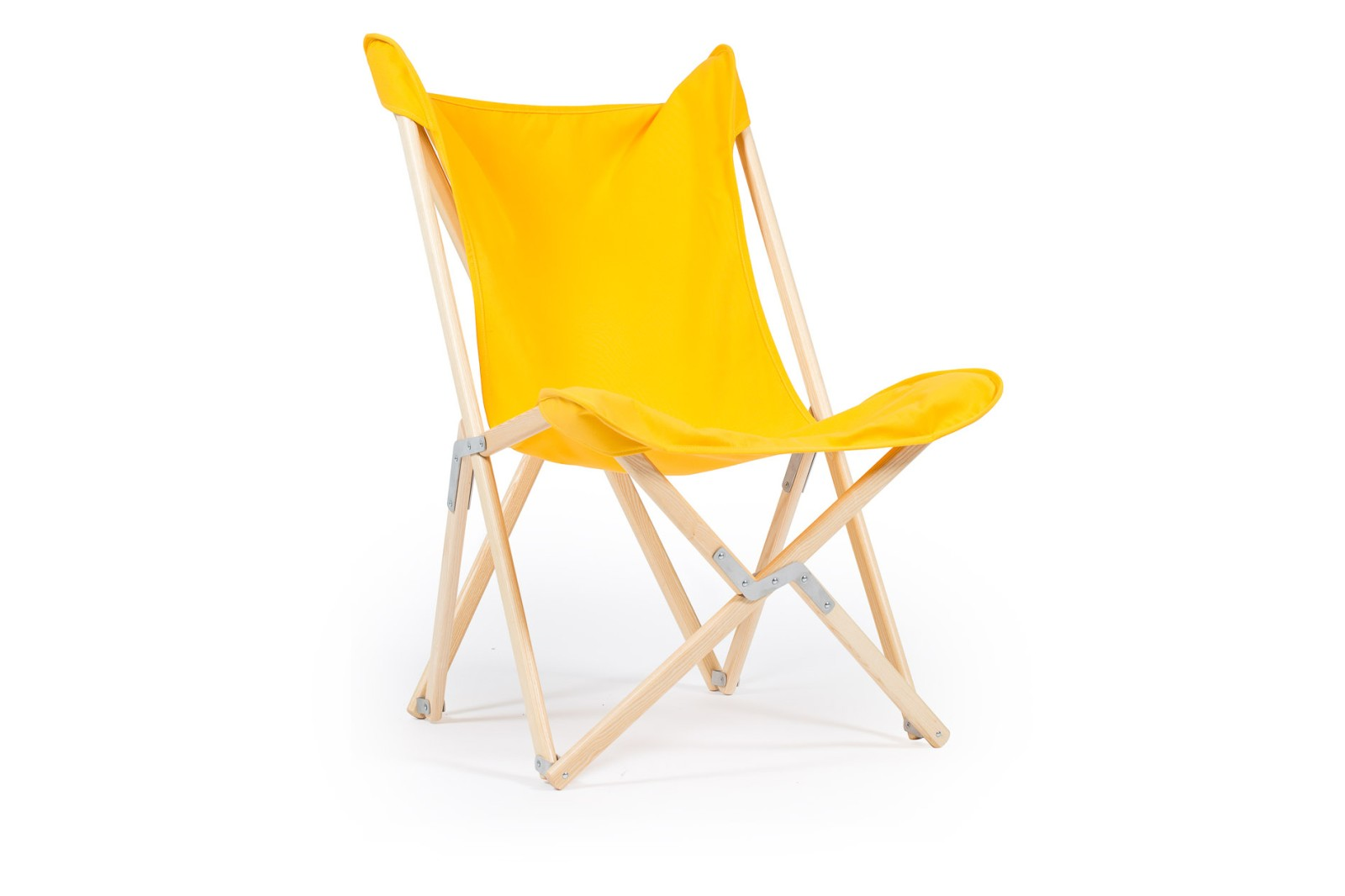 Tripolina Chair Primary Yellow, Natural Frame