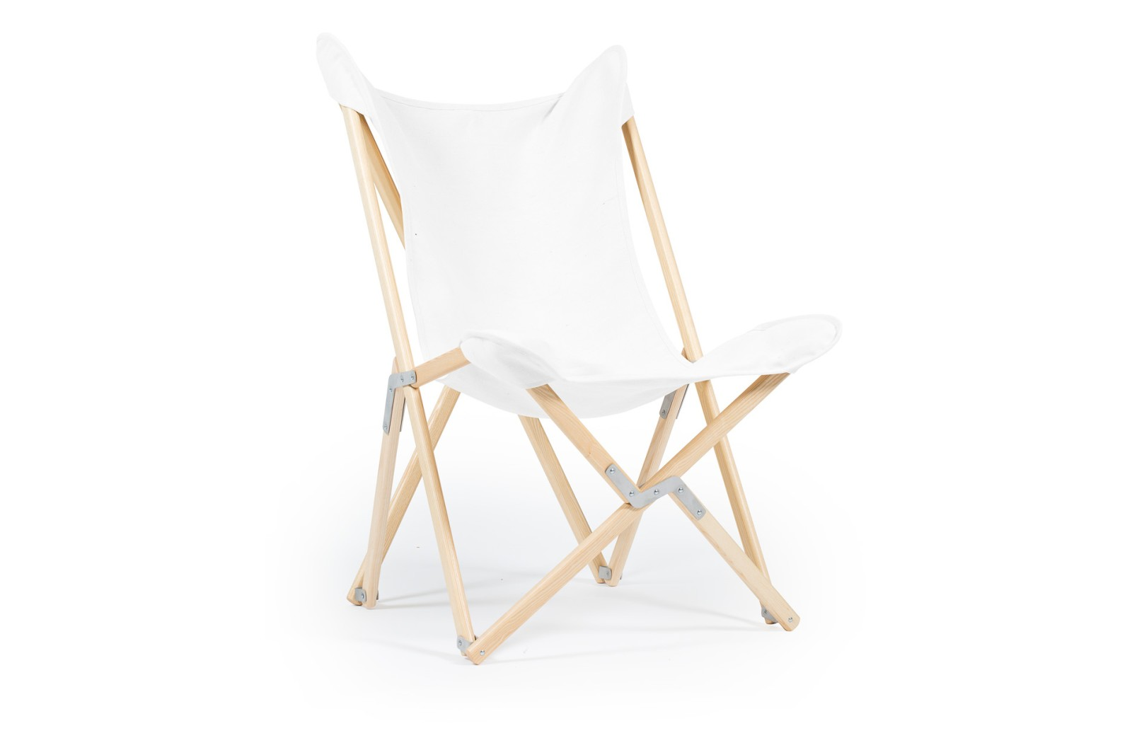 Tripolina Chair Pure White, Natural Frame