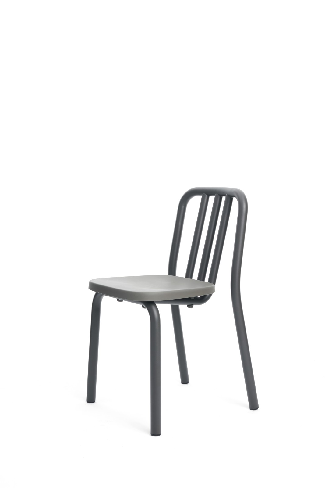 Tube Dining Chair Grey Anthracite