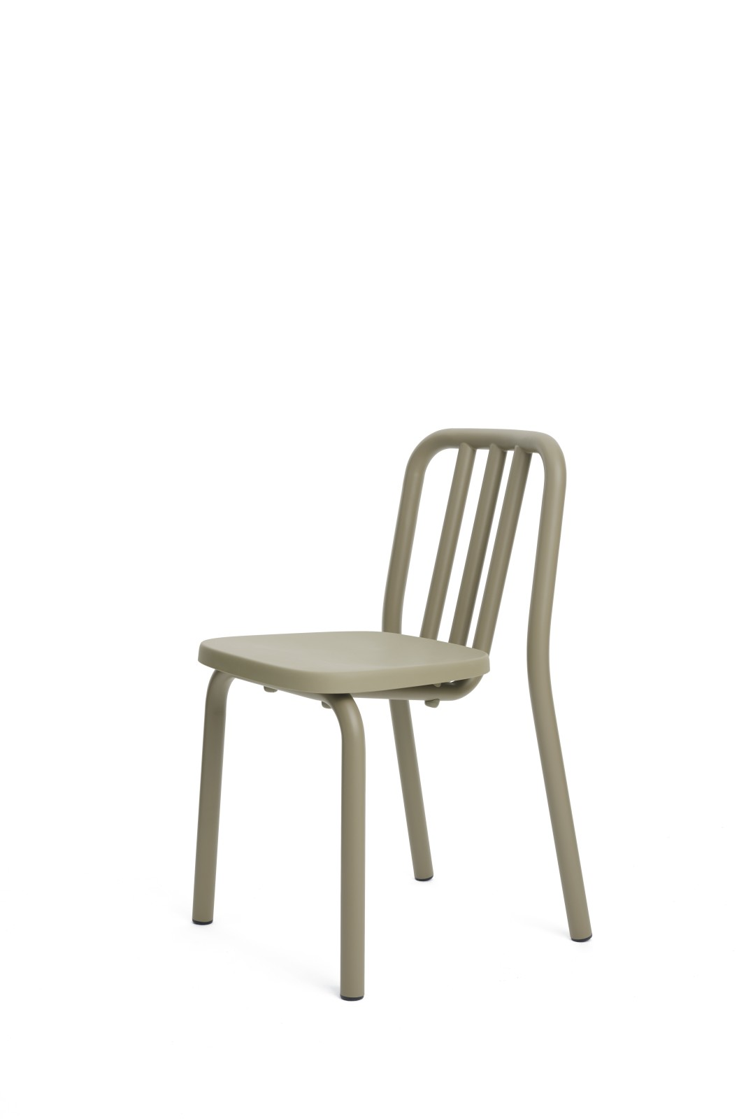 Tube Dining Chair Olive Grey