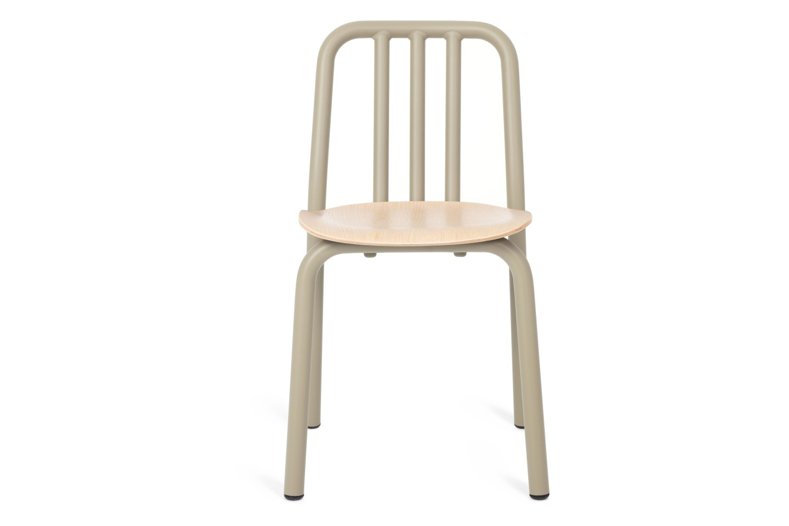 Tube Wooden Dining Chair Olive Grey, Oak