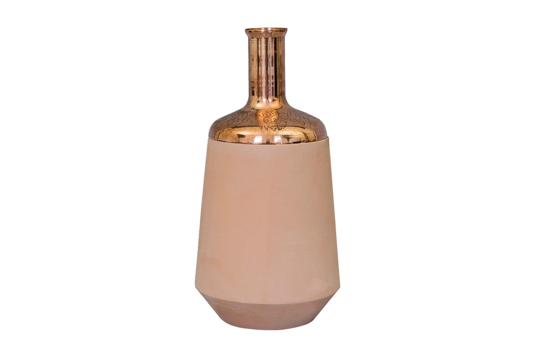 Tunisia Made Tall Vase Copper