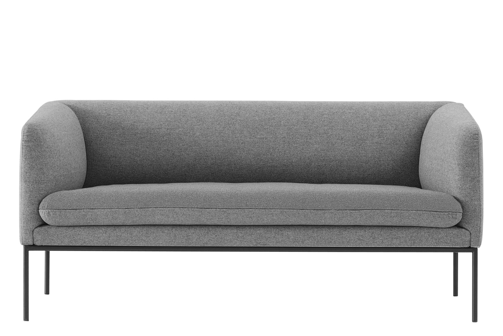 Turn 2 Seater Sofa Wool, Solid Light Grey, Without Crib 5